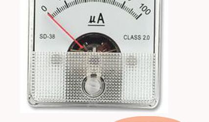 INDIKATOR TOKA ANALOGNI 0-100uA SD80/0 81x81mm #1