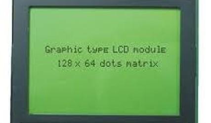 DISPLEJ GRAFIČNI 128x64 MODER + TOUCH SCREEN #1