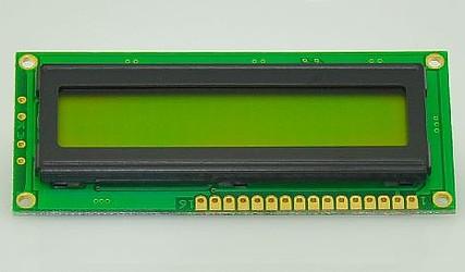 DISPLEJ LCD 1X16 Z OSVETLITVIJO DEM16102SYH-PY ZELEN #1