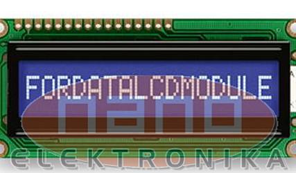 DISPLEJ LCD 1X16 Z OSVETLITVIJO FDCC1601E-NSWBBW-91LE #1
