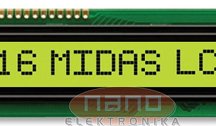 DISPLEJ LCD 1X16 Z OSVETLITVIJO MC11605A6W-FPTLW #1