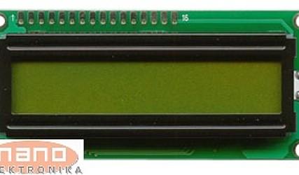 DISPLEJ LCD 1X16 Z OSVETLITVIJO MC11605A6WK-SPTLY #1