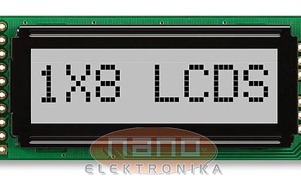 DISPLEJ LCD 1X8 Z OSVETLITVIJO MC10808A6W-SPR #1