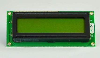 DISPLEJ LCD 2x16 BREZ OSVETLITVE DEM16213SYH ZELEN #1