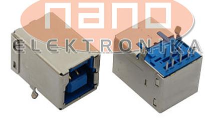 KONEKTOR USB TIP-B TIV ŽENSKI DVOJNI 72309-8034BLF #1
