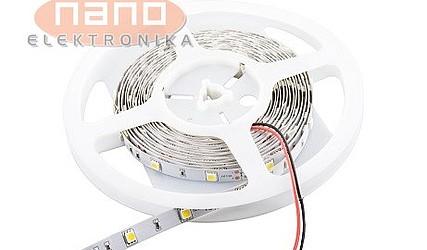 LED DIODA SMD BELA-HLADNA V TRAKU 5050 14,4W 12VDC 6000K IP67 #1